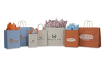 Varnish Stripe Wholesale Paper Shopping Bags