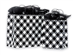 White Buffalo Plaid Shopping Bags