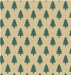 Little Trees Kraft Gift Wrap