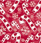 Flakes And Candy Canes Gift Wrap