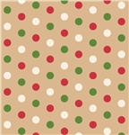 Dotty Christmas Kraft Gift Wrap