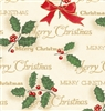 Scripted Holly Gift Wrap