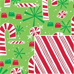 Contempo Canes Gift Wrap Reversible