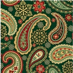 Holiday Paisley Gift Wrap