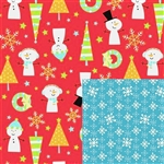 Snow Buddies Reversible Gift Wrap