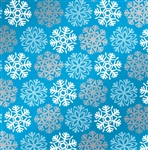 Snowflakes Metallized Gift Wrap