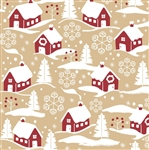 Home For Christmas Kraft Gift Wrap
