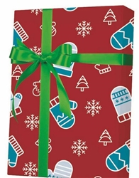 Mittens Trees Snow Wholesale Gift Wrap