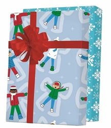 Snow Angels Reversible Gift Wrap