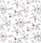 White Holly Metallized Gift Wrap
