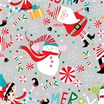 Snow Joy Metallic Silver Design Gift Wrap