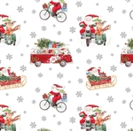 Out For Delivery Silver Metallic Design Gift Wrap