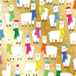 Christmas Llama Wholesale Packaging Gift Wrap