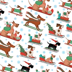 Sleigh Dogs Metallic Highlight Wholesale Packaging Gift Wrap