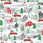 Christmas Town Metallic Silver Highlight Wholesale Packaging Gift Wrap