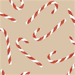 Candy Cane Glitter Kraft Wholesale Gift Wrap