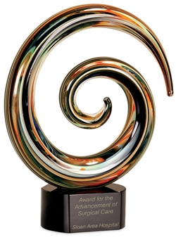 Swirl Art Glass Award