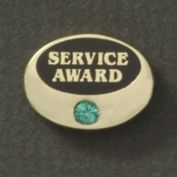 GEM OVAL AWARD PIN W/ 1 STONE