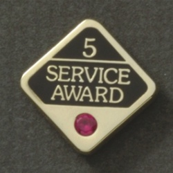 5 YEARS GEMSTONE SERVICE AWARD PIN