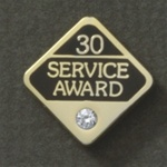 30 YEARS GEMSTONE SERVICE AWARD PIN