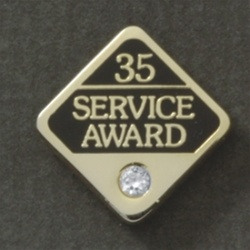 35 YEARS GEMSTONE SERVICE AWARD PIN