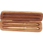 MAPLE ENGRAVED PEN, PENCIL & BOX