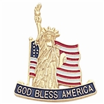 STATUE OF LIBERTY & FLAG PIN