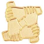 TEAMWORK HANDS PIN