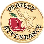 SCHOOL PERFECT ATTENDANCE PIN