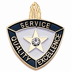 SERVICE/QUALITY/EXCELLENCE PIN