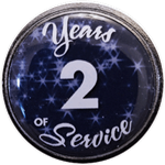 2 Years Silver and Blue Years of Service Pin