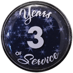3 Years Silver and Blue Years of Service Pin
