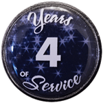 4 Years Silver and Blue Years of Service Pin