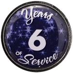 6 Years Silver and Blue Years of Service Pin