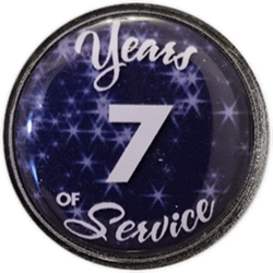 7 Years Silver and Blue Years of Service Pin