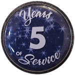 Silver and Blue Years of Service Pin