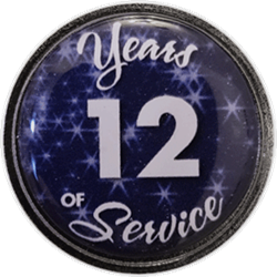 12 Years Silver and Blue Years of Service Pin