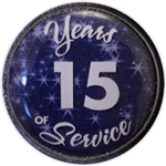 15 Years Silver and Blue Years of Service Pin