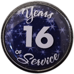 16 Years Silver and Blue Years of Service Pin