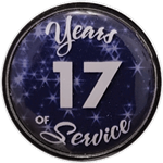 17 Years Silver and Blue Years of Service Pin