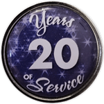 20 Years Silver and Blue Years of Service Pin