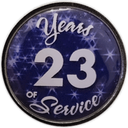 23 Years Silver and Blue Years of Service Pin