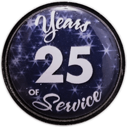 25 Years Silver and Blue Years of Service Pin
