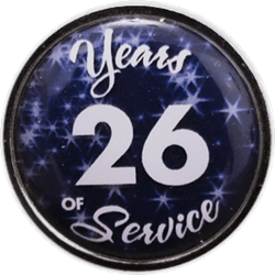 26 Years Silver and Blue Years of Service Pin