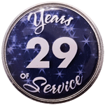 29 Years Silver and Blue Years of Service Pin