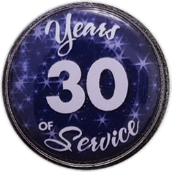 30 Years Silver and Blue Years of Service Pin