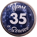 35 Years Silver and Blue Years of Service Pin