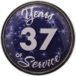 37 Years Silver and Blue Years of Service Pin