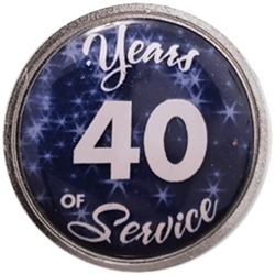 40 Years Silver and Blue Years of Service Pin