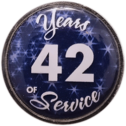 42 Years Silver and Blue Years of Service Pin